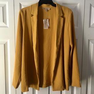 NWT PHILOSOPHY Ladies Open Front Yellow Blazer